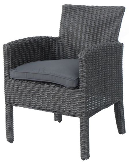 Chaise-de-jardin-Elegant-en-résine-tressée-gris