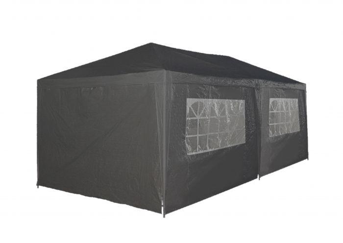 Tente-de-réception-3x6-gris-avec-parois-latérales-Pure-Garden-&-Living