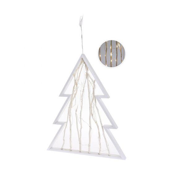 Sapin-de-Noël-20-LED-Blanc---36-cm-