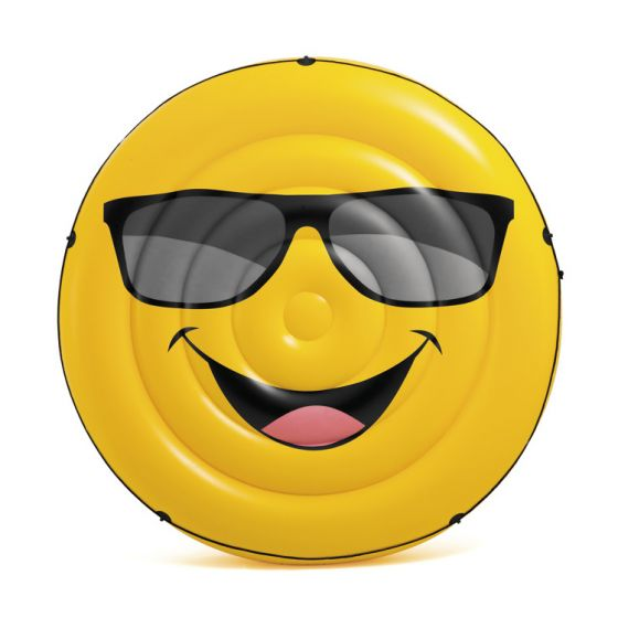 Matelas-gonflable-INTEX™-île-smiley-cool-guy