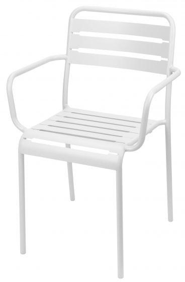 Chaise-empilable-acier-blanc-avec-accoudoir-