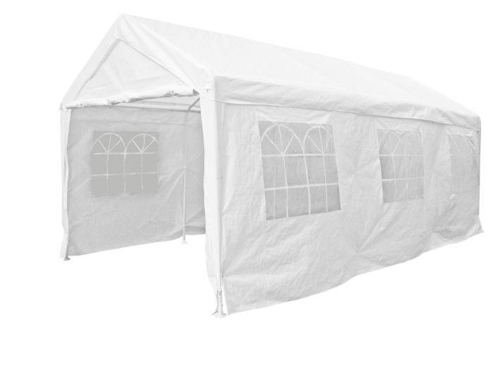Tente-de-réception-4x6-mètres-blanc-avec-parois-latérales-Pure-Garden-&-Living