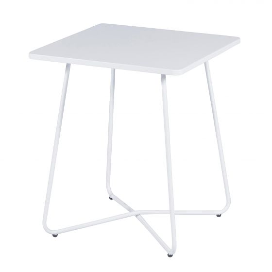 Table-métal-blanc-mat