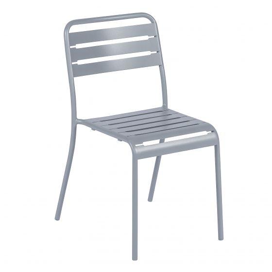 Chaise-empilable-acier-gris