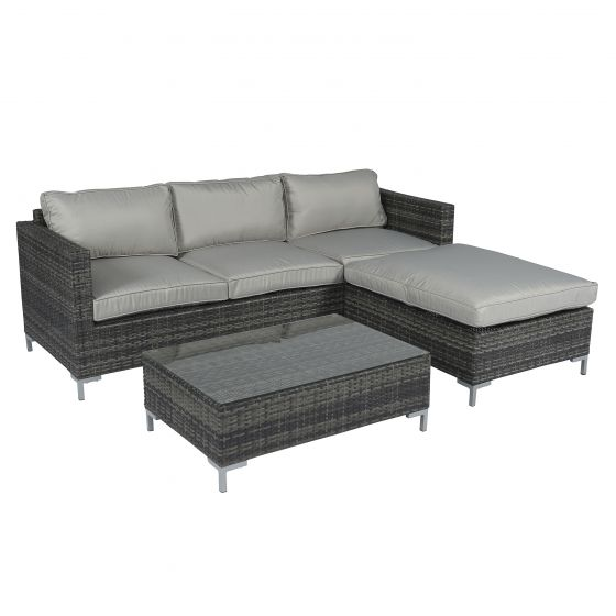 Ensemble-lounge-canapé-d'angle-en-résine-tressée-