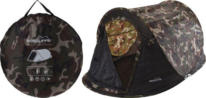 Tente-de-camping-Pop-Up-1-personne-couleur-de-l'armée