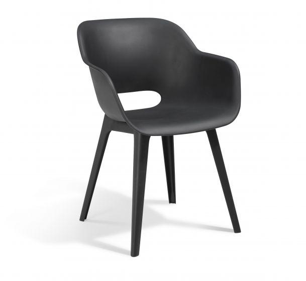 """Chaise-de-jardin-Allibert-""""Akola""""---anthracite"""