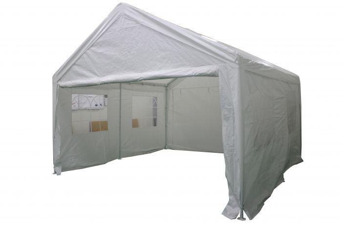 Tente-de-réception-4x4-mètres-blanc-avec-parois-latérales-Pure-Garden-&-Living