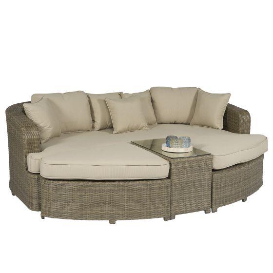Ilot-lounge-Pure-Garden-&-Living-Palma-en-résine-tressée---Naturel