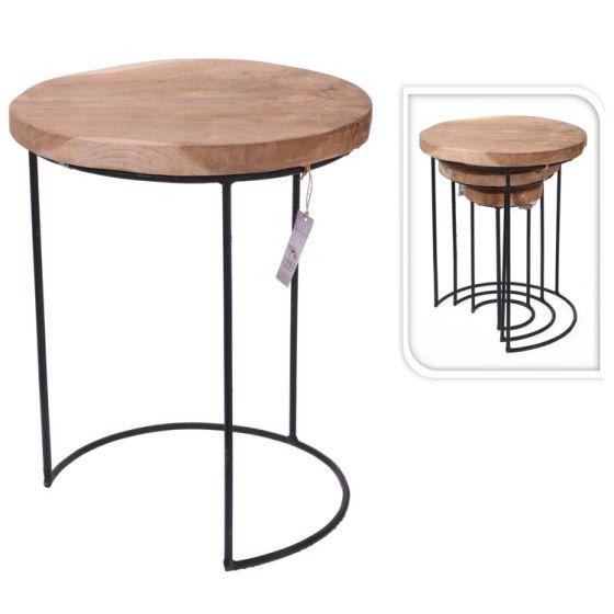 Table-d'appoint-en-teck-(jeu-de-3-pièces)