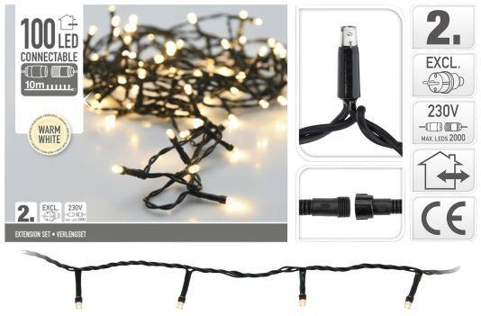 Extension-éclairage-de-Noël-100-LED-blanc-chaud