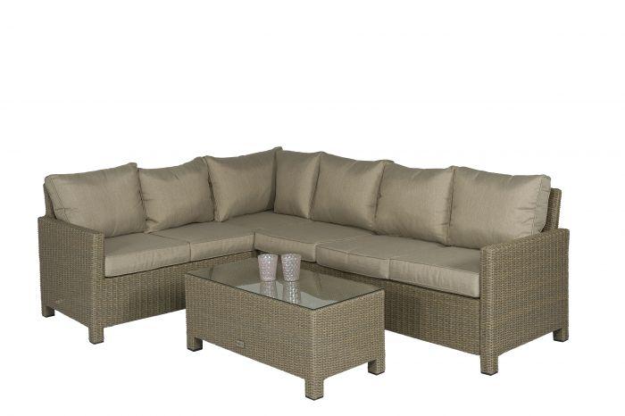 Ensemble-lounge-/-Canapé-d'angle-en-résine-tressée-