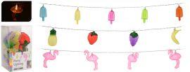 Éclairage-de-fête-Flamant-rose-/-Glace-/-Fruit