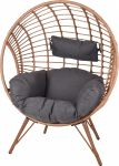 Chaise-relax-en-rotin-synthétique---Rond