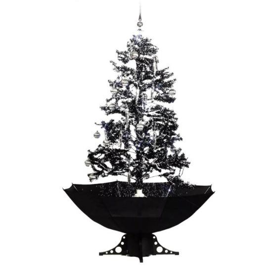 Sapin-de-Noël-Simulation-chute-de-neige---Noir---170cm