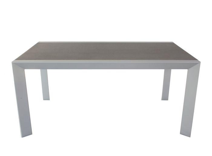 Table-de-jardin-gris-/-anthracite-160-x-90-cm