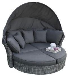 """Îlot-lounge-&-lit-lounge-""""Savanna""""---Elegant-Gris-foncé---Pure-Garden-&-Living"""