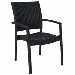 """Chaise-empilable-""""Samos""""-en-résine-tressée"""