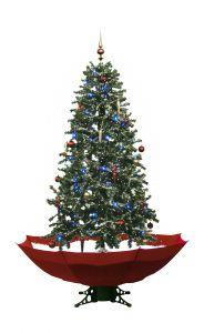 Sapin-de-Noël-Simulation-chute-de-neige---Rouge-170cm