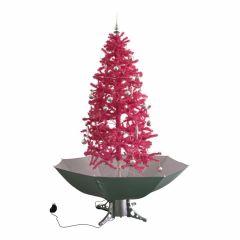 Sapin-de-Noël-Simulation-chute-de-neige---Rose-180cm