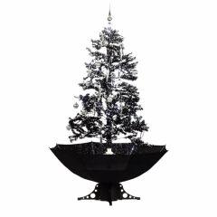 Sapin de Noël Simulation chute de neige - Noir - 170cm