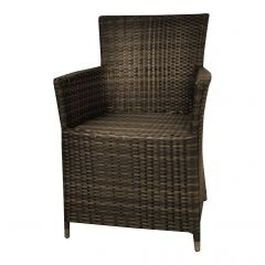 """Chaise-de-jardin-en-résine-tressée-""""Samos""""-brun"""