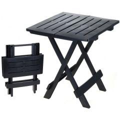Table de camping noire 44x44