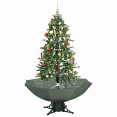 Sapin de Noël Simulation chute de neige - Vert - 170cm