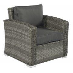 """Fauteuil-lounge-en-résine-tressée-""""Cairo""""---Elegant-gris"""