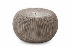 Pouf-/-Hocker-Curver-Cozy-Seat-beige---plastique