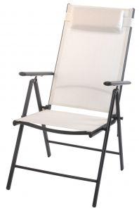 Chaise-pliable-dossier-haut-blanc