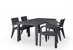 "Table-de-jardin-""Futura""-d'Allibert---anthracite"