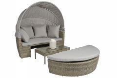 "Lit-lounge-résine-tressée-""Santorini""---Naturel-Taupe---Pure-Garden-&-Living"