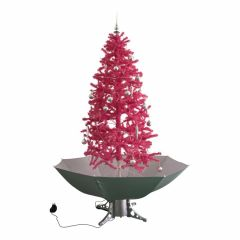 Sapin de Noël Simulation chute de neige - Rose 180cm