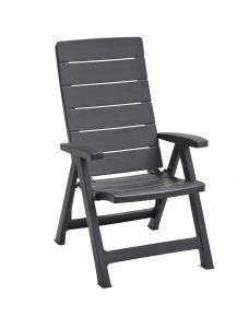 "Chaise-de-jardin-Allibert-""Brasilia""---anthracite"