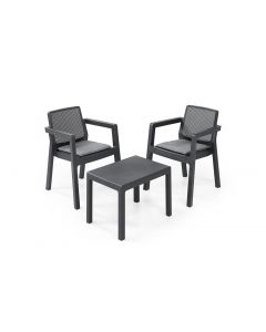 """Table et chaise balcon """"Emily"""" de Keter 2 personnes"""
