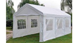 Chapiteau 3x6m PE 160 gr/m2 deluxe blanc avec bâches latérales