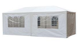 Tente de réception de base 3x6 mètres blanc avec parois latérales Pure Garden & Living