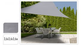 Voile d'ombrage 360x360x360 Triangle - Gris