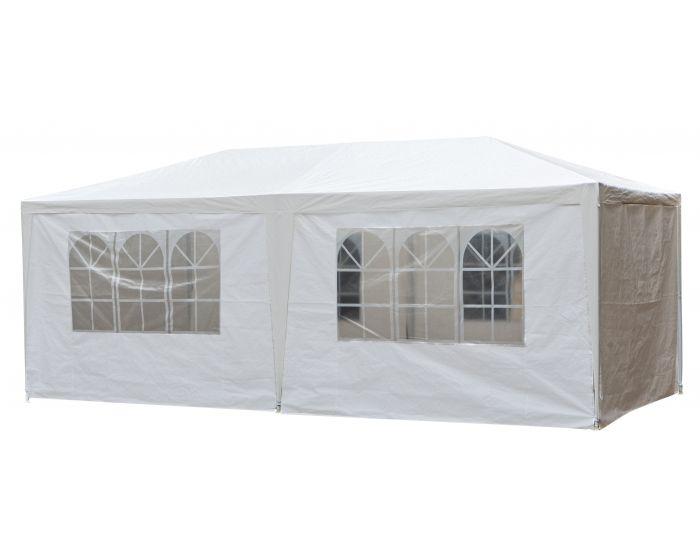 Chapiteau 3 x 6 mètres blanc avec bâches latérales Pure Garden & Living
