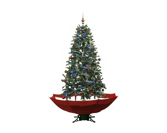 Sapin de Noël Simulation chute de neige - Rouge 170cm