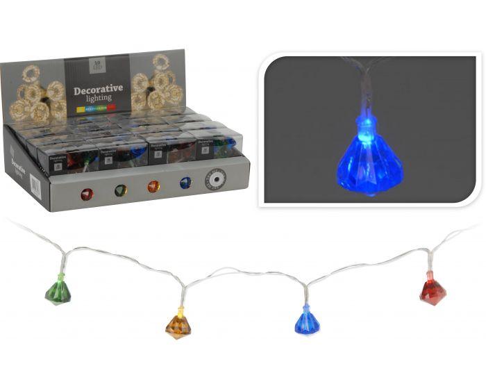 Éclairage LED 10 ampoules multicolores