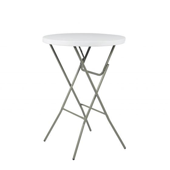 d3779979fb5b49 Table haute mange-debout luxueux pliante blanche