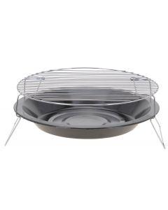 Barbecue au charbon de bois plat