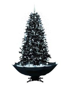 Sapin de Noël Simulation chute de neige - Noir - 180cm
