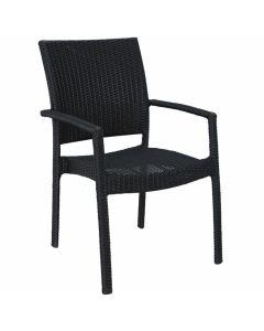 """Chaise empilable """"Samos"""" en résine tressée"""