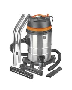 Aspirateur humide et sec industriel Eurom Force 1420 en acier inoxydable