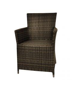 """Chaise de jardin en résine tressée """"Samos"""" brun"""