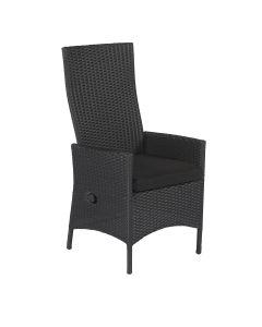Chaise de jardin réglable en résine tressée