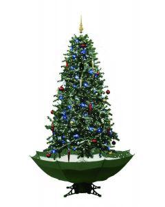 Sapin de Noël Simulation chute de neige - Vert - 180cm